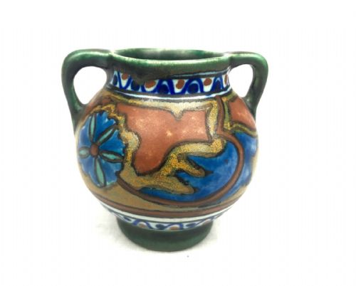 Gouda Pottery / Vase / Bowl / Jug / Art Deco / Green / Blue / Orange Antique